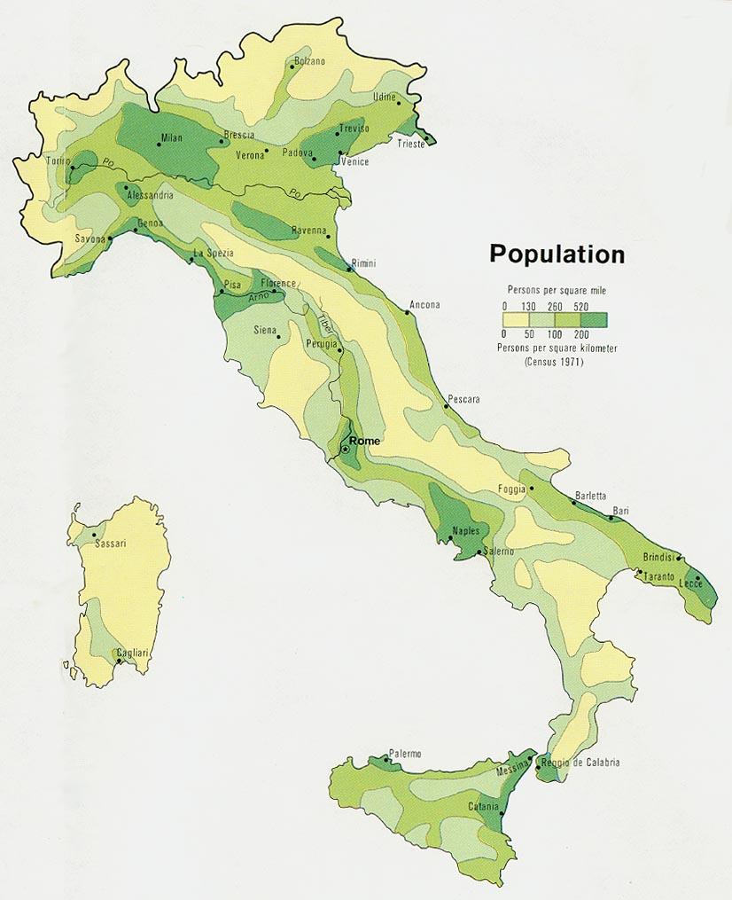 Mapa de italia viajar a italia for Struttura politica italiana