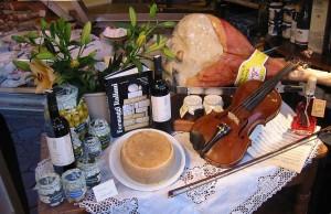 Diversos productos de la gastronomía italiana.