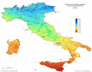 Mapa climático de Italia.