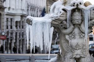 Los niveles de temperaturas bajas en Roma, Italia.
