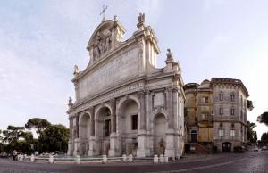 Fuente gigante del  Parque Gianicolo.