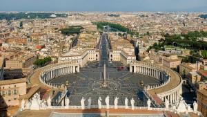 Vista de la Plaza de San Pedro, Ciudad del Vaticano
