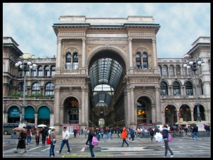 Exterior de la Galleria Vittorio Emanuele II.