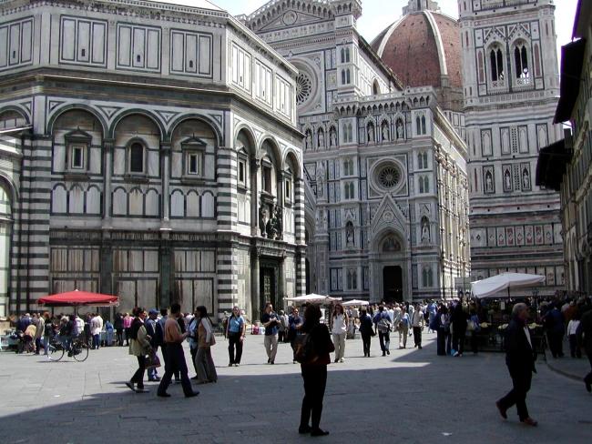 La Plaza del Duomo en Florencia