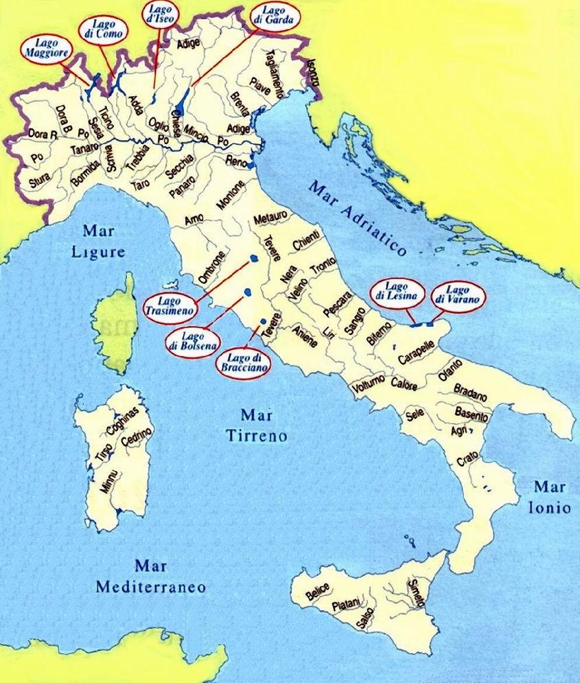 Mapa de Italia  Viajar a Italia