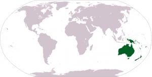 Ubicación de Oceanía