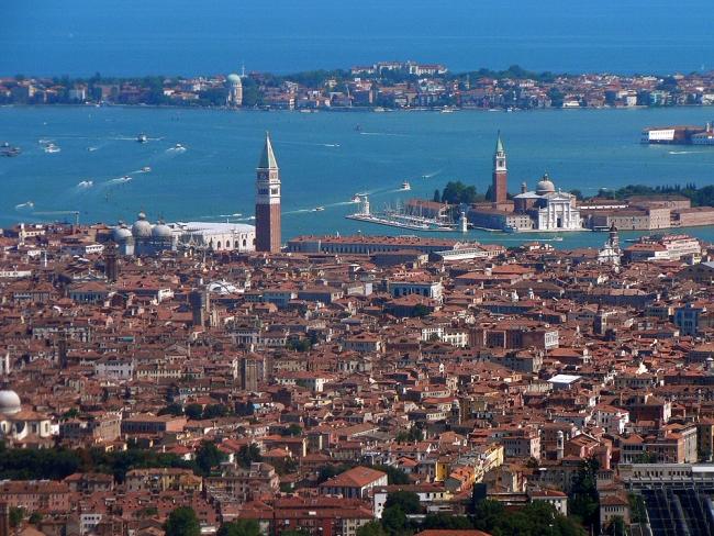 Vista aérea de Venecia