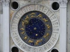 Detalle del reloj de San Marcos en la Torre del Reloj