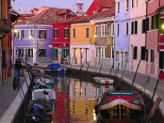Isla de Burano y sus coloridas fachadas