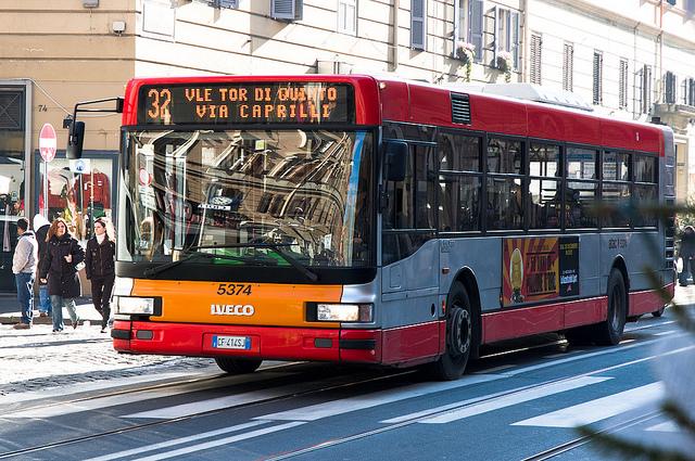 Los autobuses en Roma
