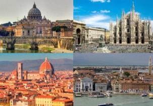 Roma, Milán, Florencia y Venecia