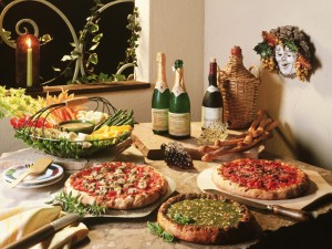 Comida italiana.