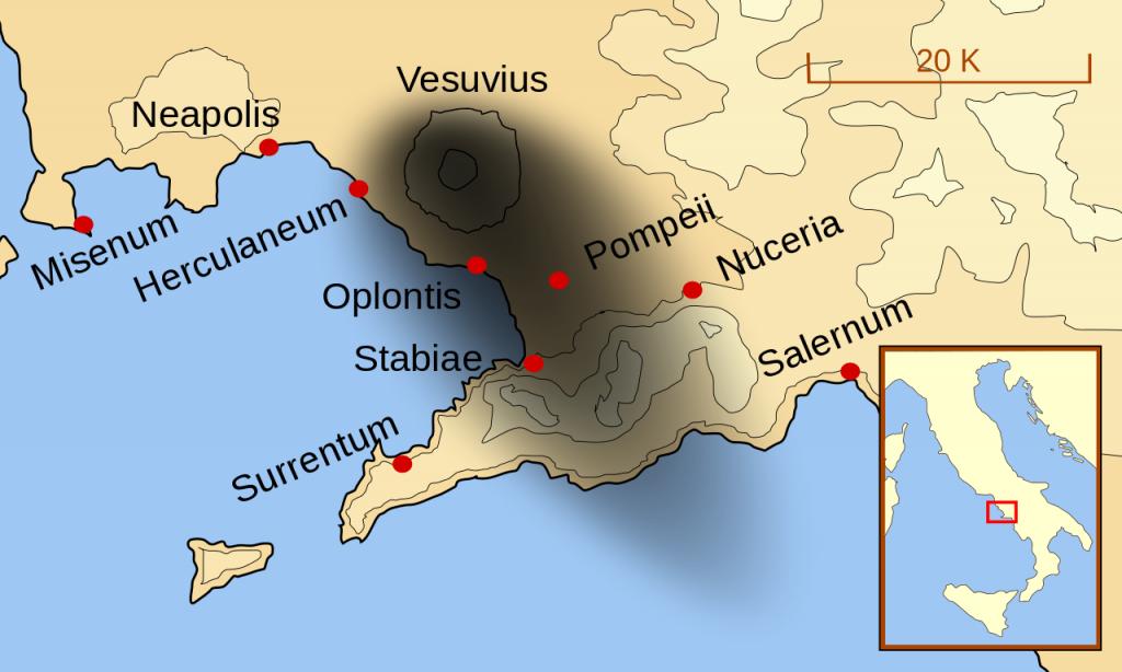 Ubicación del Monte Vesubio