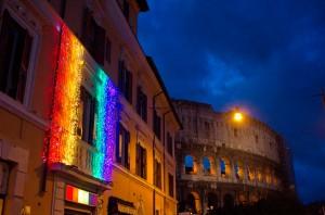 El barrio de Laterano, es una de las pocas zonas de Italia abiertamente dedicadas a un público LGBTQ.