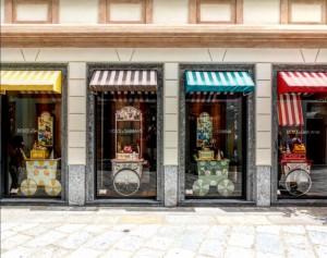 Dolce & Gabbana en el Quadrilatero della Moda en Milán.