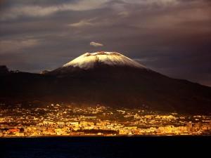 Maravillosa vista del Monte Vesubio