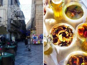 La Vucciria - Collage de entra y mesa en la zona nocturna de Palermo