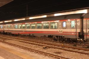 Trenes de la Estación Santa Lucia en Venecia.