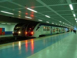 Trenes en la estación Punta Raisi de Palermo