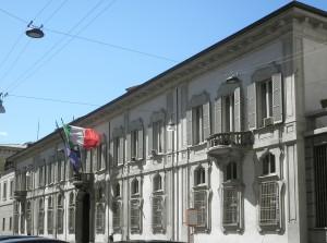 Fachada del palacio Isimbardi