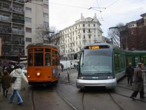 Tranvías en Milan