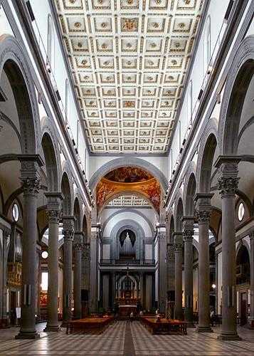 Bas lica de san lorenzo de florencia viajar a italia for Interior iglesia san lorenzo brunelleschi