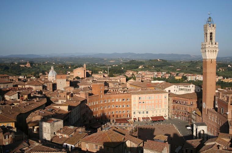 Vista de la ciudad de Siena