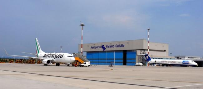 Hangar del aeropuerto de Verona