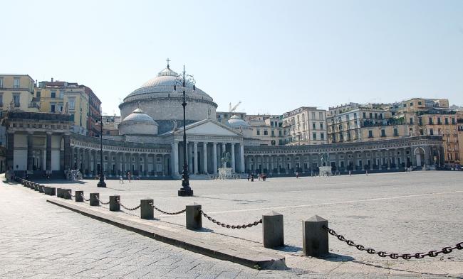 Vista de la Plaza de Plebiscito (Nápoles)