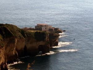 Vista aérea del parque submarino de Gaiola.
