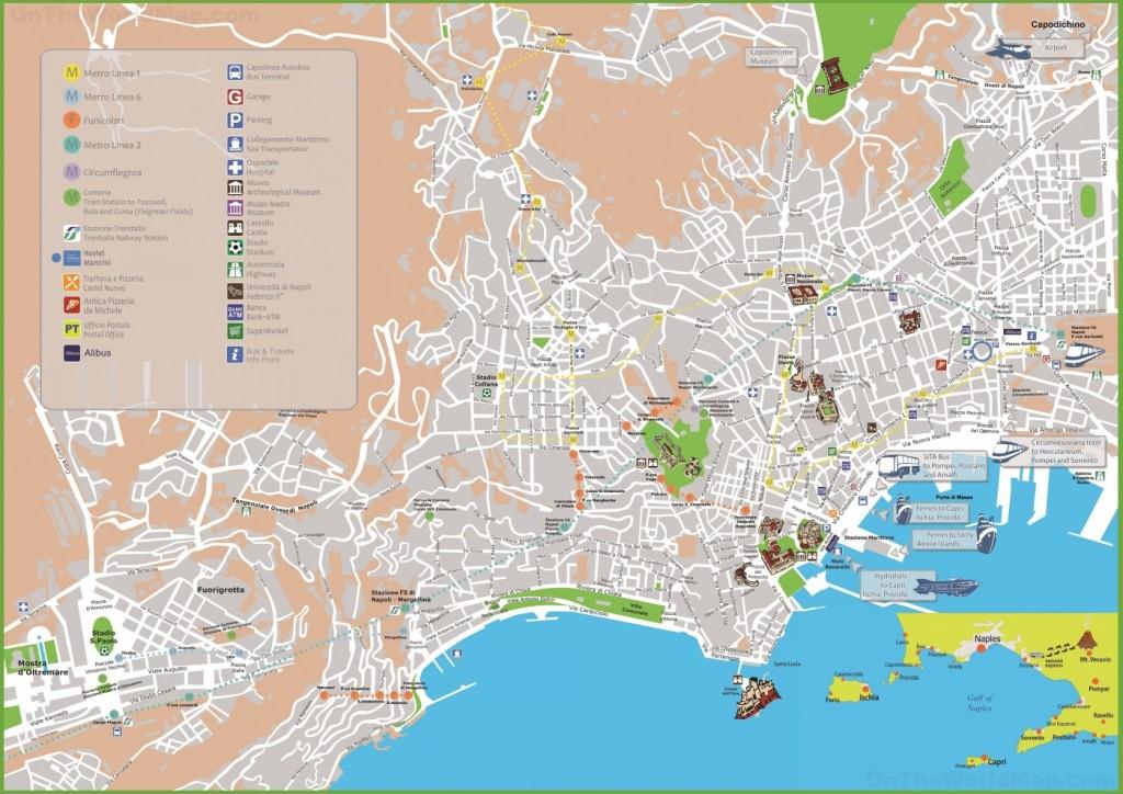 Mapa Turistico De Napoles.Mapa De Napoles Viajar A Italia
