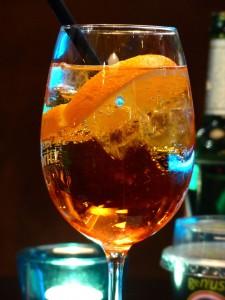 La bebida mas popular de Venecia, Spritz.
